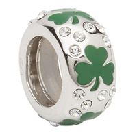 Image for Green  Shamrock Swarovski Set Bead