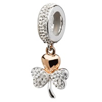 Image for Rose Gold Plated Shamrock Encrusted With Swarovski Crystal