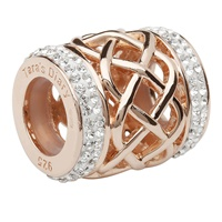 Image for Origin Swarovski Celtic Weave and Rose Gold Charm TD614