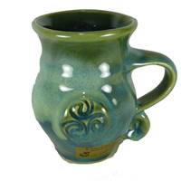Image for Colm De Ris Irish Pottery Round Mug Green(GA2)
