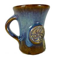 Image for Colm De Ris Irish Pottery & Straight Mug Blue (BA1)