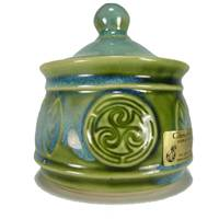 Image for Colm De Ris Irish Pottery Sugar Bowl Green