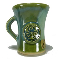Image for Colm De Ris Irish Pottery Straight Mug Green(A1)