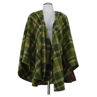 Image for John Hanly Irish Sue Cape, Green Plaid