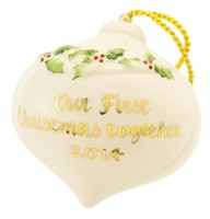 Image for Belleek China Our 1st Christmas Bauble 2014
