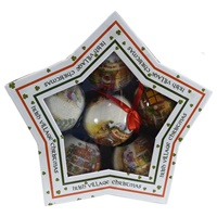 Image for Bridgets Of Erin Irish Village Boxed Ornament 6 Pieces