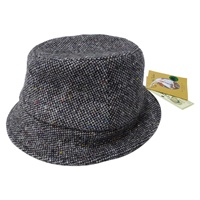 Image for Hanna Wee Thatch Green Tweed Hat