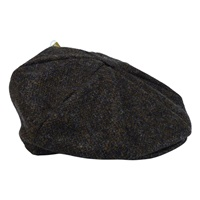 Image for Hanna Harris Tweed Newsboy Eight Panel Cap, Peat Color