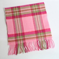 Image for 100% Brushed Merino Scarf - Pink, Fuchsia And Green Check