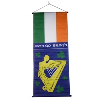 Image for Irish Flag and Erin Go Bragh Large Hanging Banner