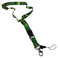 Image for Ireland and Irish Flag Lanyard Keychain