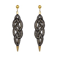 Image for Blaithin Ennis Sisal Gold Earrings with Stud Post