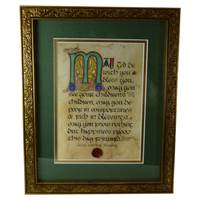 Image for Wedding Blessing Green Matted Gold Framed Print, 8 x 10""