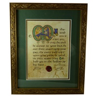 Image for Gold Framed Christening Blessing Print 8 x 10