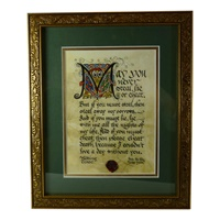 Image for Gold Framed Wedding Toast Print 8 x 10