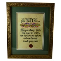 Image for Gold Framed Retirement Blessing Print 8 x 10