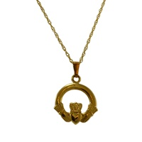 Image for Gold Irish Claddagh Pendant 14K