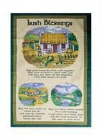 Image for Irish Tea Towel - Irish Cottage Design