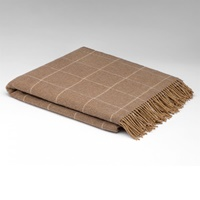 Image for Caramel Windowpane Lambswool Throw