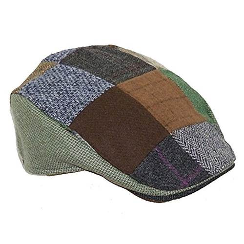 e850529796f2d Product ID  26948. Home   Fado Irish Jewelry   Tweed Patchwork Donegal  Touring Cap  Small