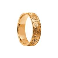 10K Yellow Celtic Warrior Ring