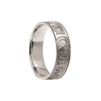 Image for Celtic Warrior Shield Band Style Ring