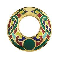 Image for Gold Plated Large Celtic Brooch