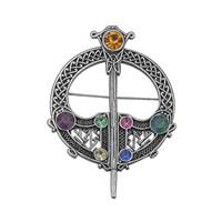 Image for Multi Colored 7 Stone Tara Brooch