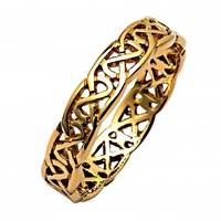 Image for Ladies 14K Yellow Gold Sheelin Narrow Pierced Celtic Wedding Band