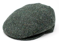 Image for Hanna Tweed Vintage Snap Cap, Green