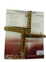 Image for St Brigid Cross Woven Rush Placard
