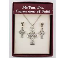 Image for RF Celtic Cross Pendant and Earring Set