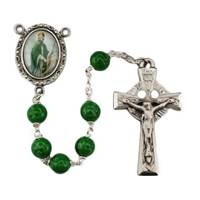 Image for 7mm Green St. Patrick Rosary