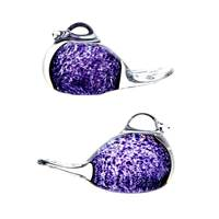 Image for Irish Handmade Glass Wild Heather Love Birds (Pair)