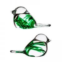 Image for Irish Handmade Glass Claddagh Love Birds (Pair)
