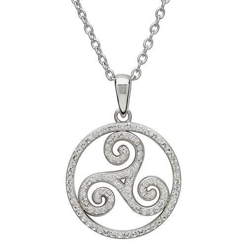stainless box sided dp steel celtic necklace knot pendant s elfasio magic men both jewelry chain