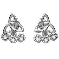 Image for Shanore Sterling Silver Swarovski Trinity Earrings