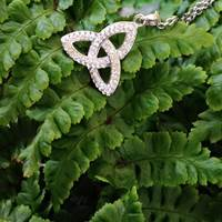 Image for Trinity Knot Pendant Embellished with Swarovski Crystals