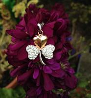 Image for Gold Plated Shamrock Pendant Encrusted With Swarovski Crystals