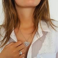 Image for Celtic Heart Pendant Embellished With Swarovski Crystals