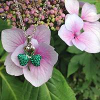 Image for Shanore Sterling Silver Shamrock Pendant Encrusted with Swarovski Crystals