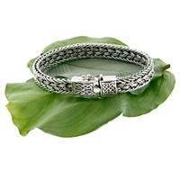 """Image for Keith Jack Sterling Silver Celtic Weave 8"""" Bracelet"""