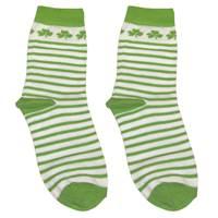 Image for Stripe Shamrock Baby Socks, White/Green
