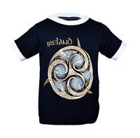 Image for Celtic Knot Kids Ring T-Shirt, Navy