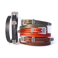 Image for Lee River Leather Meabh Narrow Belt, Moss