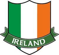 Image for Ireland Tri-Color Crest Sticker