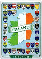 Image for Vintage Metal Ireland and Counties Sign