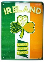 Image for Vintage Metal  Wall Signs Of Ireland Tricolour