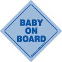 Image for Blue Baby on Board Hanging Car Sign