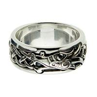 Image for Keith Jack Sterling Silver Black CZ Dragon Ring